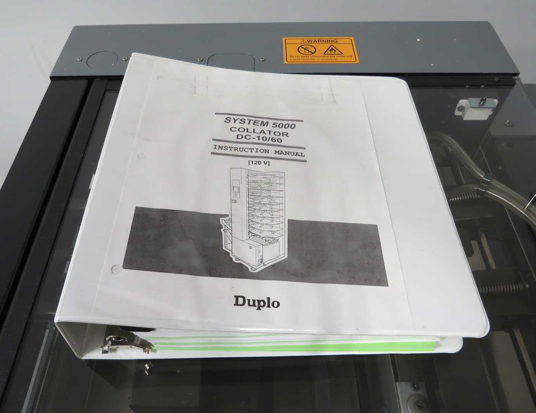 duplo system 5000 3000 collator bookletmaker used print rh used pfsgraphics com Duplo Folder Parts Duplo Collator Parts