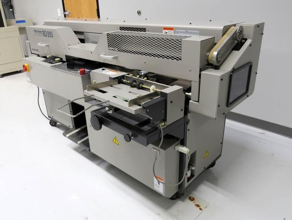 standard horizon bq 260 perfect book binder used print finishing rh used pfsgraphics com horizon bq 260 service manual